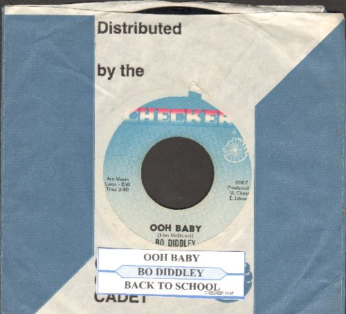 Diddley, Bo - Ooh Babay/Back To School (with juke box label and company sleeve) - EX8/ - 45 rpm Records