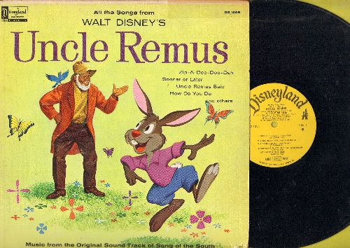 Disney - Uncle Remus: Zip-A-Dee-Doo-Dah, Uncle Remus Said, How Do You Do, Song Of The South (vinyl MONO LP record) - VG7/VG6 - LP Records