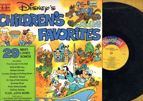 Disney - Children's Favorites Vol. 2 - 29 Best Loved Songs: Skip To My Lou, Yankee Doodle, Shortnin' Bread, London Bridge, Polly Wolly Doodle (Vinyl STEREO LP record) - VG7/EX8 - LP Records