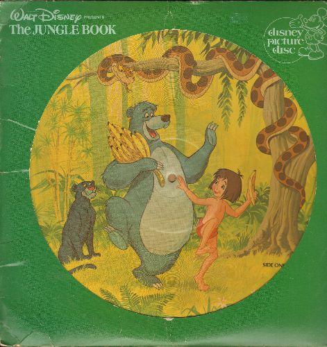 Disney - The Jungle Book - RARE Picture Disc of the Soundtrack, with Original cover!) - EX8/ - LP Records