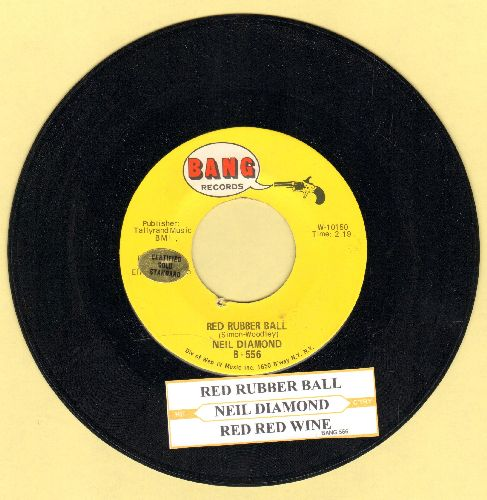 Diamond, Neil - Red Rubber Ball/Red Red Wine (with juke box label) - EX8/ - 45 rpm Records