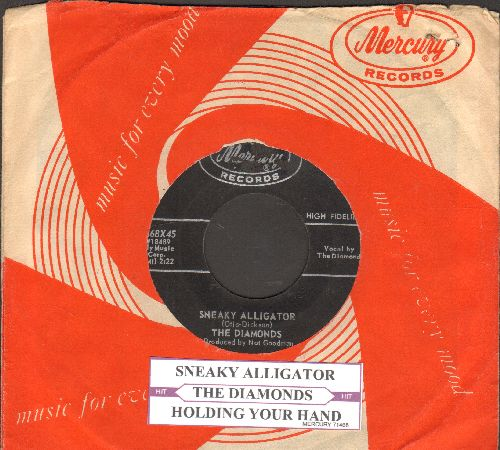 Diamonds - Holding Your Hand/Sneaky Alligator (with juke box label) - VG7/ - 45 rpm Records