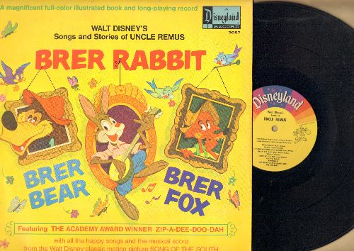 Disney - Walt Disney's Songs and Stories of Uncle Remus - Brer Rabbit, includes Academy Award Winner Zip-A-Dee-Doo-Dah (vinyl MONO LP record with full-color story pages) - NM9/EX8 - LP Records
