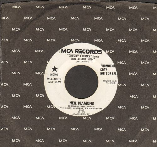Diamond, Neil - Cherry, Cherry (double-A-sided DJ advane pressing with MONO and STEREO version, with MCA company sleeve) - NM9/ - 45 rpm Records