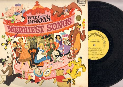 Disney - Merriest Songs: Whistle While You Work, Who's Afraid Of The Big Bad Wolf? Chim Chim Cheree, I'm Late (vinyl MONO LP record) - EX8/EX8 - LP Records