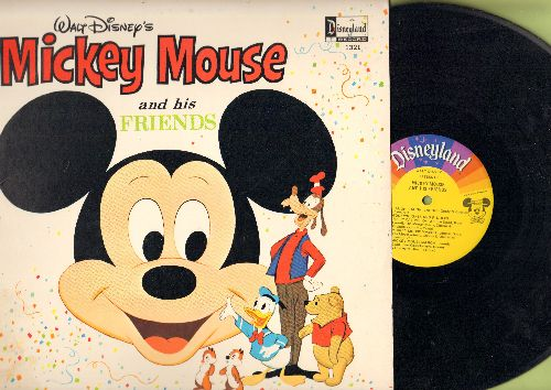 Disney - Mickey Mouse And His Friends: Happy Mouse, Mousekedance, Mickey Mouse Mambo, Mickey Mouse March, Donald Duck Song (Vinyl MONO LP record, 1968 first issue, NICE condition!) - NM9/NM9 - LP Records
