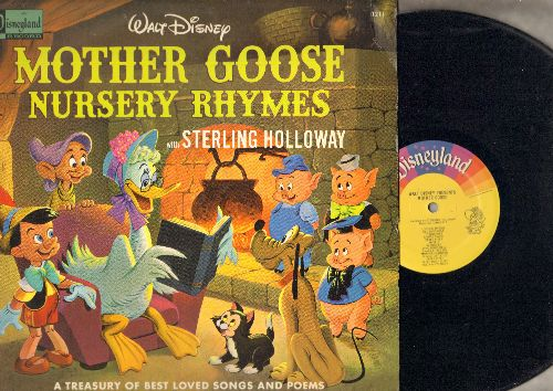 Disney - Mother Goose Rhymes with Sterling Holloway - A treasury of best loved songs and poems (vinyl LP record) - NM9/NM9 - LP Records