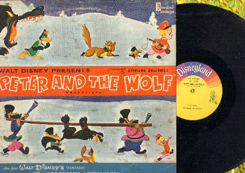Disney - Peter And The Wolf/The Sorcerer's Apprentice (vinyl MONO LP record) - EX8/VG7 - LP Records