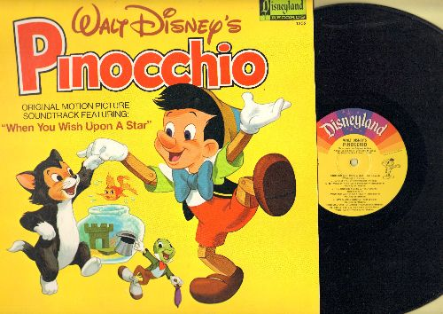 Disney - Pinocchio: All The Songs From the Original Motion Picture Sound Track - Includes the Oscar Winning Song -When You Wish Upon A Star- (Vinyl LP record) - EX8/NM9 - LP Records