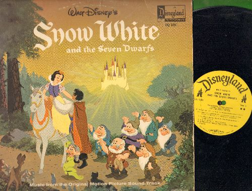 Disney - Snow White and the Seven Dwarfs - Story and Songs from the Original Motion Picture Sound Track (Vinyl LP record with full-color picture pages) - EX8/VG7 - LP Records