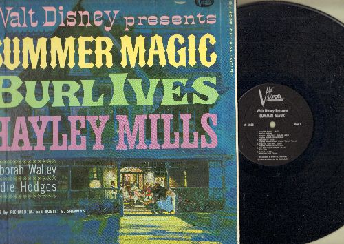 Disney - Summer Magic - Original Sound Track with songs by Hayley Mills, Burl Ives and Eddie Hodges (vinyl MONO LP reocrd, gate-fold cover) - NM9/NM9 - LP Records