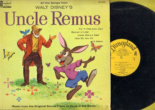 Disney - Uncle Remus: Zip-A-Dee-Doo-Dah, Uncle remus Said, Sooner Or Later - Music from Original Soundtrack (vinyl MONO LP record) - VG7/ - LP Records