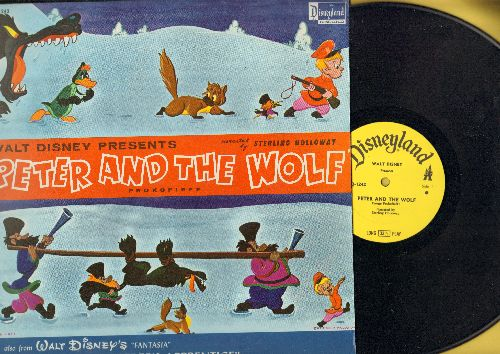 Disney - Peter And The Wolf/The Sorcerer's Apprentice (vinyl MONO LP record, tape on bottom cover) - NM9/VG7 - LP Records