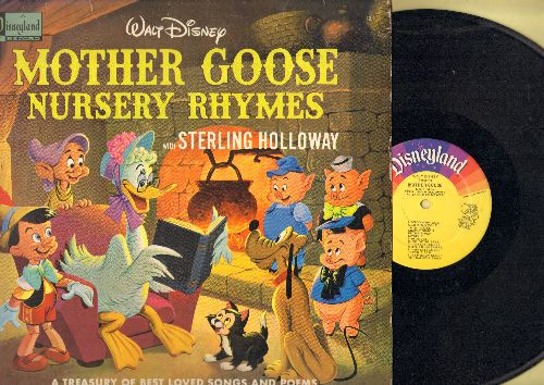 Disney - Mother Goose Rhymes - A Treasury Of Best Loved Songs And Poems with Streling Holloway (vinyl MONO LP record) - VG7/EX8 - LP Records