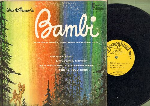 Disney - Bambi - All the Songs from the Original Motion Picture Sound Track - includes Love Is A Song, Little April Shower, I Bring You A Song (Vinyl LP record) - VG7/VG6 - LP Records