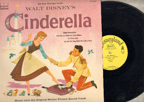 Disney - Cinderella - Music from Original Motion Picture Soundtrack: Bibbidi Bubbidi Boo, A Dream Is A Wish Your Heart Makes, So This Is Love, Oh Sing Sweet Nightingale (vinyl LP record) - EX8/EX8 - LP Records