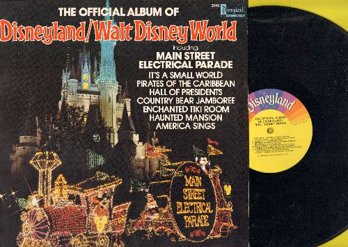 Disney - Disneyland/Walt Disney World - Includes Main Street Electrical Parade, It's A Small World, Hall Of Presidents, Haunted Mansion (vinyl LP record, 1980 Original) - NM9/NM9 - LP Records