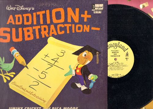 Disney - Addition + Subtraction with Jimini Cricket and Rica Moore (vinyl MONO LP record) - NM9/EX8 - LP Records