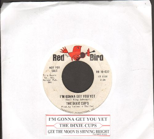 Dixie Cups - I'm Gonna Get You Yet/Gee The Moon Is Shining Bright (DJ advance pressing with juke box label) - EX8/ - 45 rpm Records