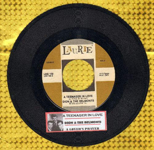 Dion & The Belmonts - A Teenager In Love/A Lover's Prayer (double-hit re-issue with juke box label) - EX8/ - 45 rpm Records