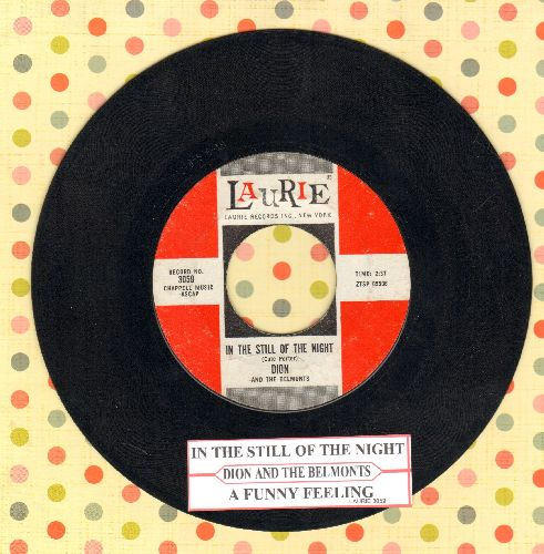 Dion - In The Still Of The Night/A Funny Feeling (with juke box label) - EX8/ - 45 rpm Records
