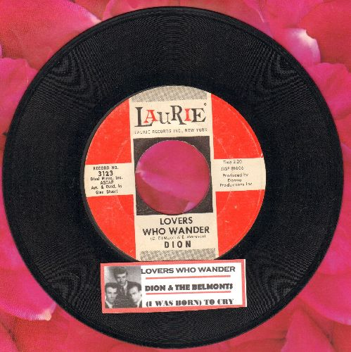 Dion - Lovers Who Wander/(I Was) Born To Cry (with juke box label) - NM9/ - 45 rpm Records