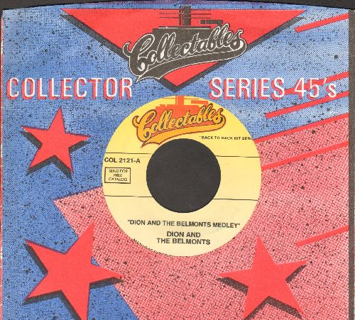 Dion & The Belmonts - Dion & The Belmonts Medley (All Original Tracks)/The Majestic (re-issue with company sleeve) - NM9/ - 45 rpm Records