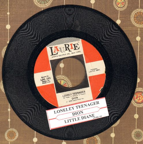 Dion - Lonely Teenager/Little Diane (double-hit re-issue with juke box label) - EX8/ - 45 rpm Records
