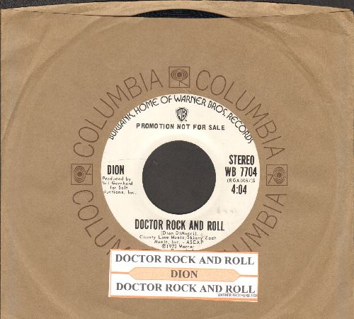Dion - Doctor Rock And Roll (double-A-sided DJ advance pressing with juke box label Columbia company sleeve) - NM9/ - 45 rpm Records