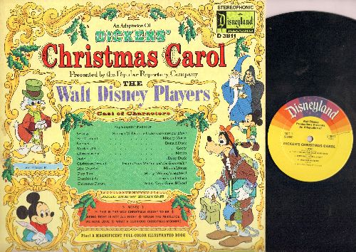 Disney - Christmas Carol - An Adaptation of The Charles Dickens Classic, presented by the Walt Disney Players (vinyl STEREO LP record) - EX8/VG7 - LP Records