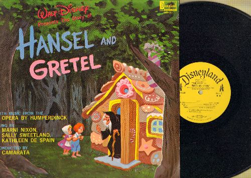 Disney - Hansel And Gretel - Songs sung by Marni Nixon, Sally Sweetland and Kathleen De Spain, Orchestra conducted by Camarata (Vinyl MONO LP record) - EX8/VG6 - LP Records