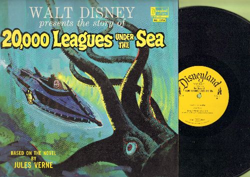 Disney - Walt Disney Presents The Story Of 20,000 Leagues Under The Sea (Vinyl MONO LP record) - NM9/EX8 - LP Records