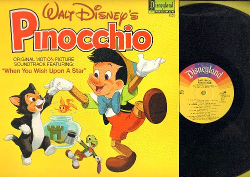 Disney - Pinocchio: All The Songs From the Original Motion Picture Sound Track - Includes the Oscar Winning Song -When You Wish Upon A Star- (Vinyl LP record, 1978 issue) - EX8/NM9 - LP Records