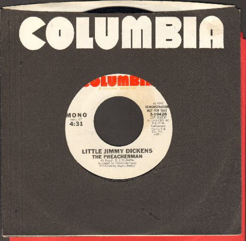 Dickens, Little Jimmy - The Preacherman (DJ advance pressing with Columbia company sleeve) - NM9/ - 45 rpm Records