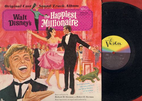 Disney - The Happiest Millionaire: Original Cast Sound Track Album (Vinyl STEREO LP record with picture pages!) - NM9/EX8 - LP Records