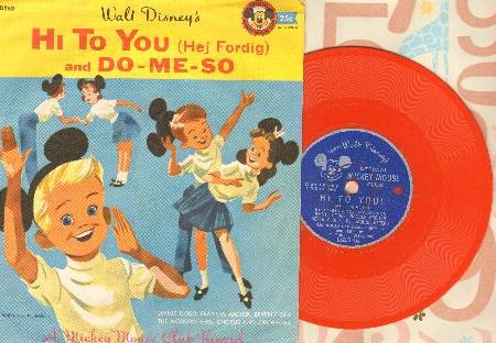 Disney - Hi To You (Hei Fordig)/Do-Me-So (RARE 5 inch 78 rpm record with picture sleeve) - VG7/EX8 - 78 rpm