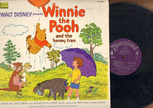 Disney - Winnie The Pooh And The Honey Tree - Sterling Holloway and Sebastian Cabot tell the story (vinyl STEREO LP record, gate-fold cover with picture pages) - EX8/VG7 - LP Records