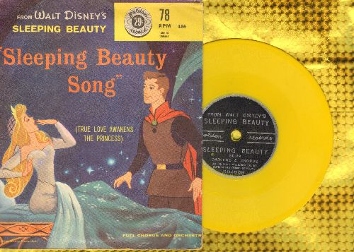 Darlene & Chorus - Walt Disney-s Sleeping Beauty - Song and Story (5 inch 78 rpm Little Golden Record with picture cover) - EX8/EX8 - 78 rpm