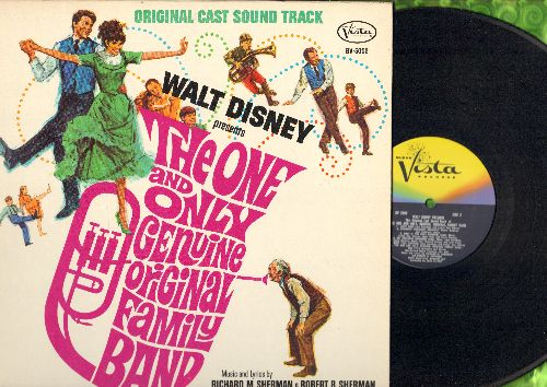Disney - The One And Only Genuine Original Family Band - Original Motion Picture Soundtrack, gate-fold cover with BONUS picture pages, NICE condition!) - M10/NM9 - LP Records
