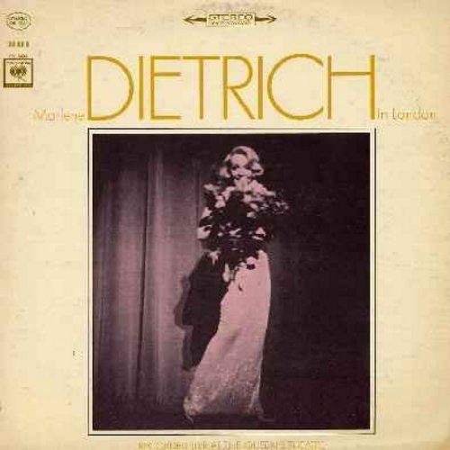 Dietrich, Marlene - Dietrich in London - Recorded LIVE at the Queen's Theatre: The Laziest Gal In Town, Lili Marlene, La Vie En Rose, Johnny (wenn du Geburtstag hast), Falling In Love Again (Vinyl STEREO LP record) - EX8/VG7 - LP Records