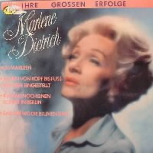 Dietrich, Marlene - Ihre Grossen Erfolge (German): Paff der Zauberdrachen (Puff The Magic Dragon), Die Antwort weiss ganz allein der Wind (Blowin' In The Wind), Lili Marleen, Sag mir wo die Blumen sind (Where Have All The Flowers Gone) (German pressing, s