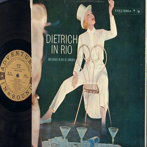 Dietrich, Marlene - Dietrich In Rio: Look Me Over Closely, My Blue Heaven, Makin' Whoopee!, One For My Baby, I've grown Acustomed To Her Face (Vinyl LP record) - NM9/VG7 - LP Records