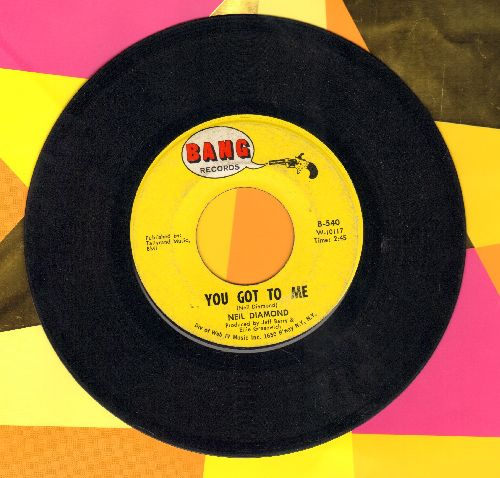 Diamond, Neil - You Got To Me/Someday Baby - VG7/ - 45 rpm Records