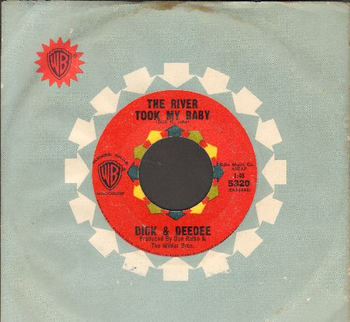 Dick & Dee Dee - The River Took My Baby/My Lonely Self (Thinking Of You) (red label early pressing with company sleeve) - EX8/ - 45 rpm Records