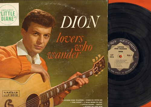 Dion - Lovers Who Wander: Come Go With Me, The Twist, Shout, Stagger Lee, Sandy (Vinyl MONO LP record, soc) - VG6/VG6 - LP Records