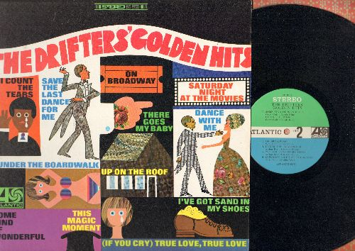 Drifters - The Drifters' Golden Hits: There Goes My Baby, Dance With Me, This Magic Moment, Up On The Roof, Save The Last Dance For Me (Vinyl STEREO LP record, 1968 first pressing) - NM9/NM9 - LP Records