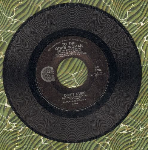 Duke, Doris - To The Other Woman/I Don't Care Anymore - NM9/ - 45 rpm Records