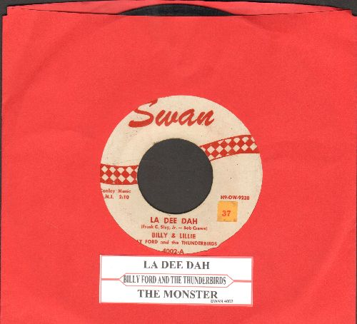 Billy & Lillie - La Dee Dah/The Monster (with juke box label) - VG7/ - 45 rpm Records