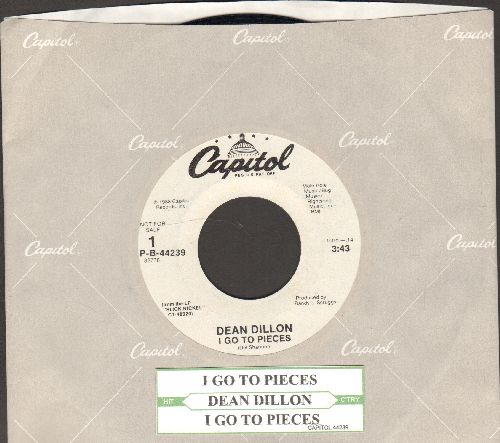 Dillon, Dean - I Go To Pieces (double-A-sided DJ advance copy with Capitol company sleeve and juke box label) - NM9/ - 45 rpm Records