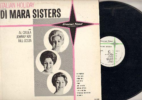 Mara Sisters, Al Caiola, Johnny Kay, Bill Costa - Italian Holiday Starring Di Mara Sisters: O Sole Mio, Mama, Funiculi Funicula, Tarantella Neapolitana (vinyl LP record) - NM9/EX8 - LP Records